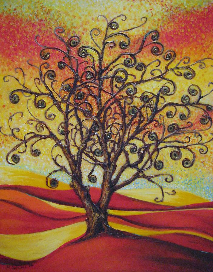 Tree Painting - Tree Of Life by Mirjana Gotovac