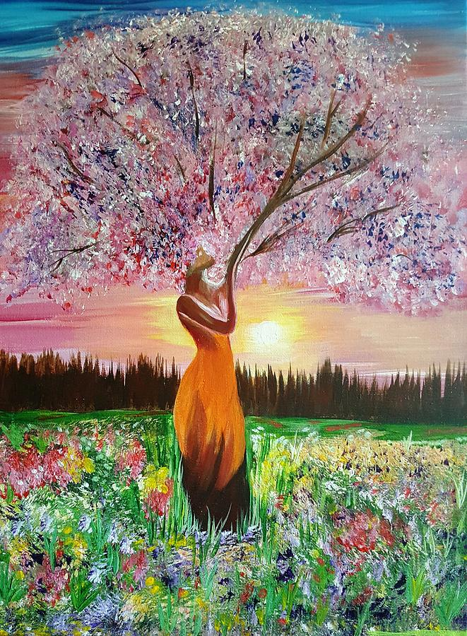 Mother Nature Painting By Sandi May Baker