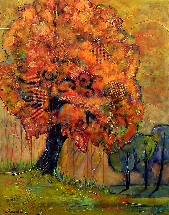Autumn Painting - Tree Of Wisdom by Blenda Studio