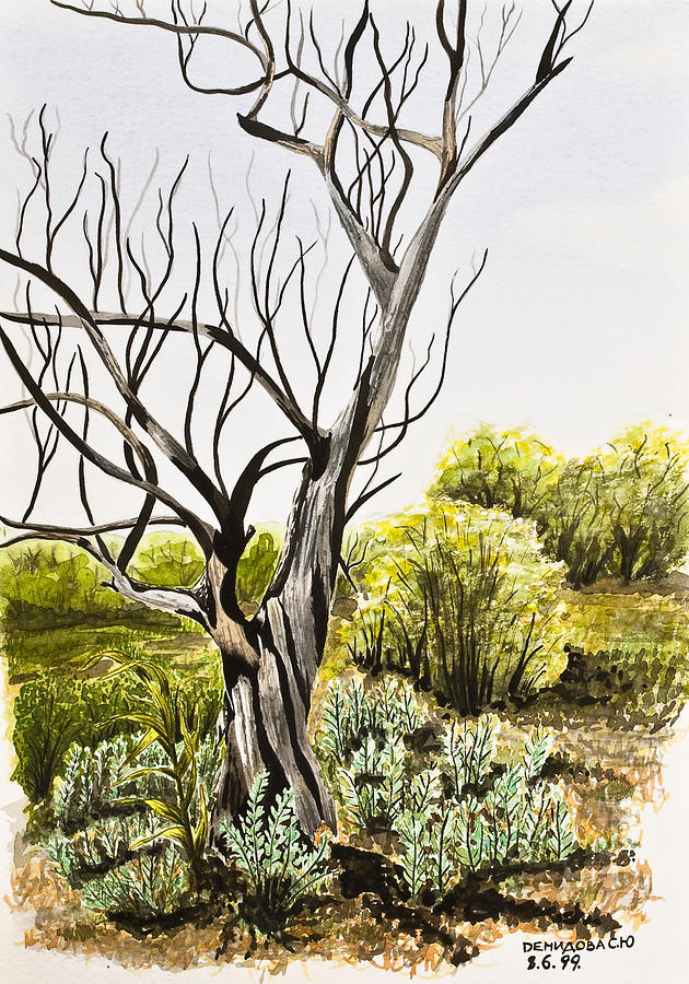 Tree Painting - Tree Painting by Svetlana Sewell