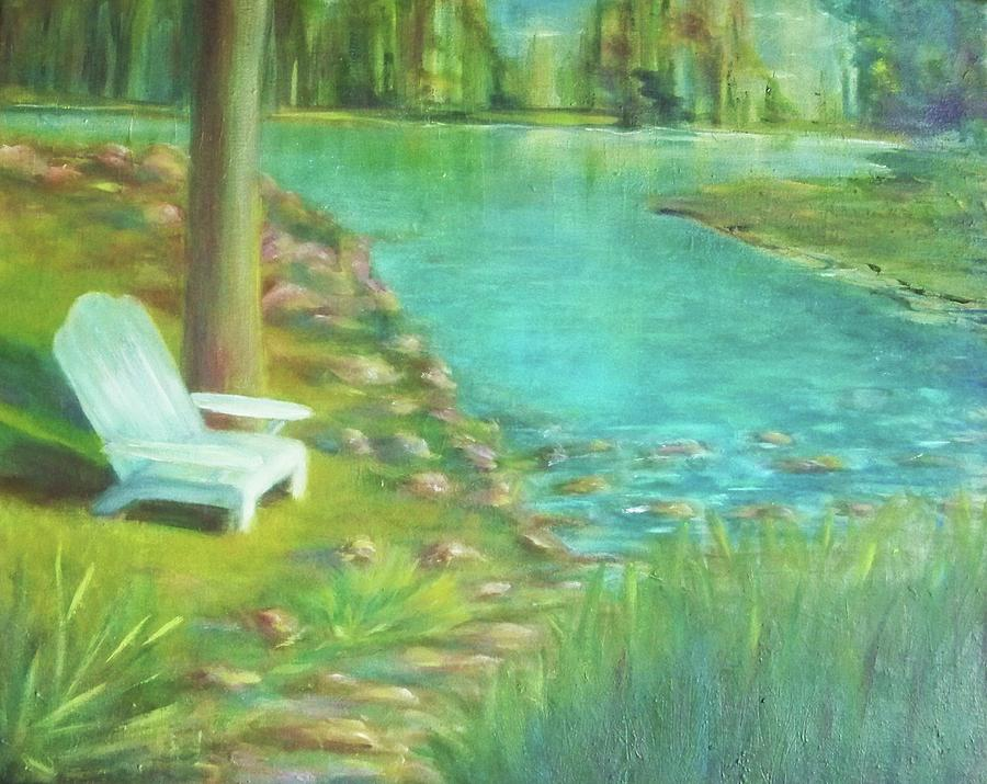 Landscape Painting - Tree Planted By The Waters by Dana Redfern