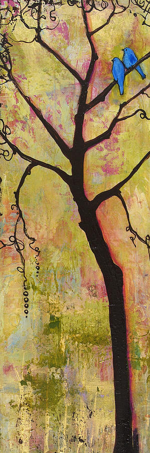 Tree Painting - Tree Print Triptych Section 1 by Blenda Studio