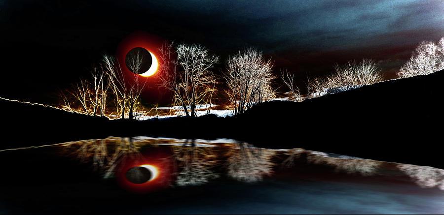Tree Reflections Landscape-solar Eclipse 2017 Photograph