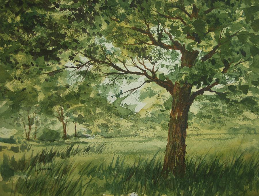 Trees Painting - Tree Shadows by Kevin Heaney