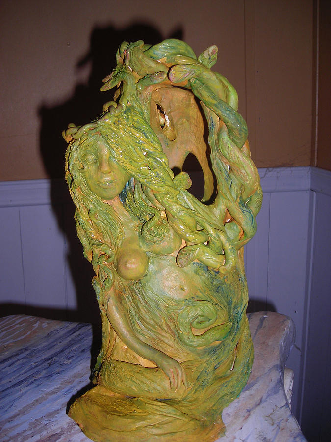 Clay Sculpture - Tree Spirit  by Diane Sellers