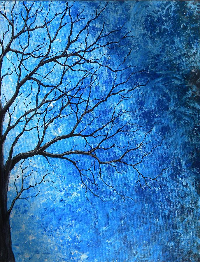 Tree Painting - Tree Swirls by Sabrina Zbasnik