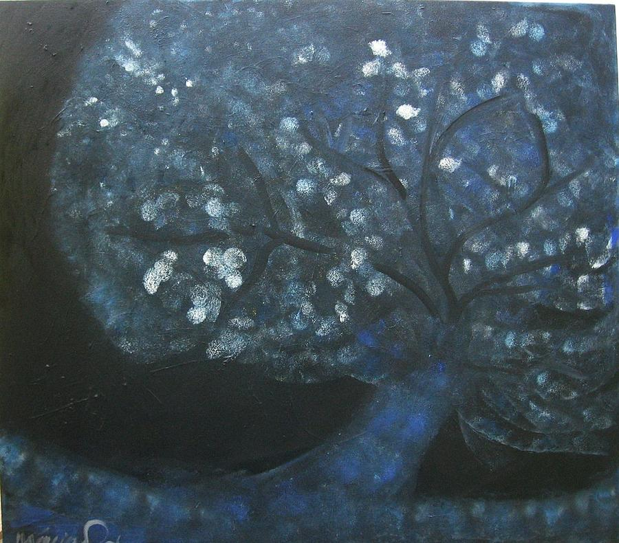 Expressionism Painting - Tree Vi by Marcia Pinho