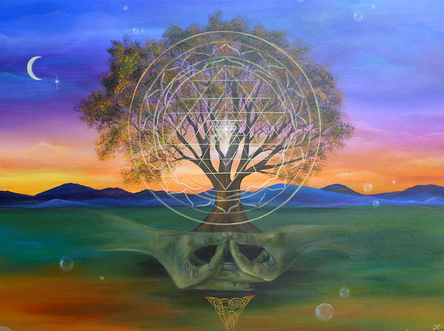 Landscape Painting - Tree Yantra by Sundara Fawn