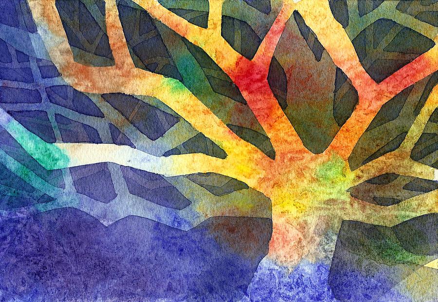 Tree Painting - Tree by Yevgenia Watts