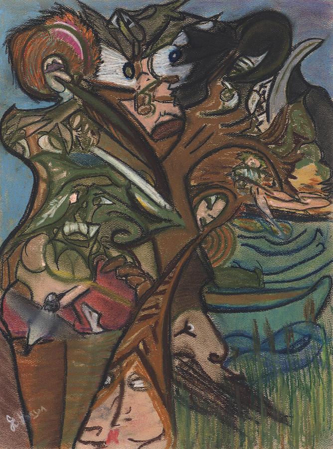 Tree Painting - Treed In Skiatook by Stu Hanson