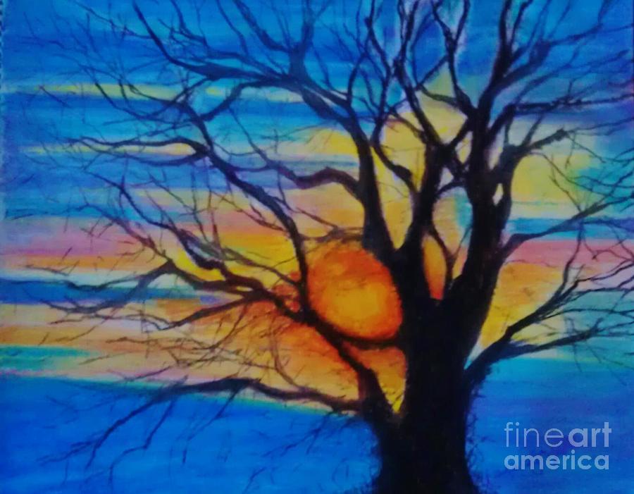 Tree Pastel - Treedom 1 by Caroline Cunningham