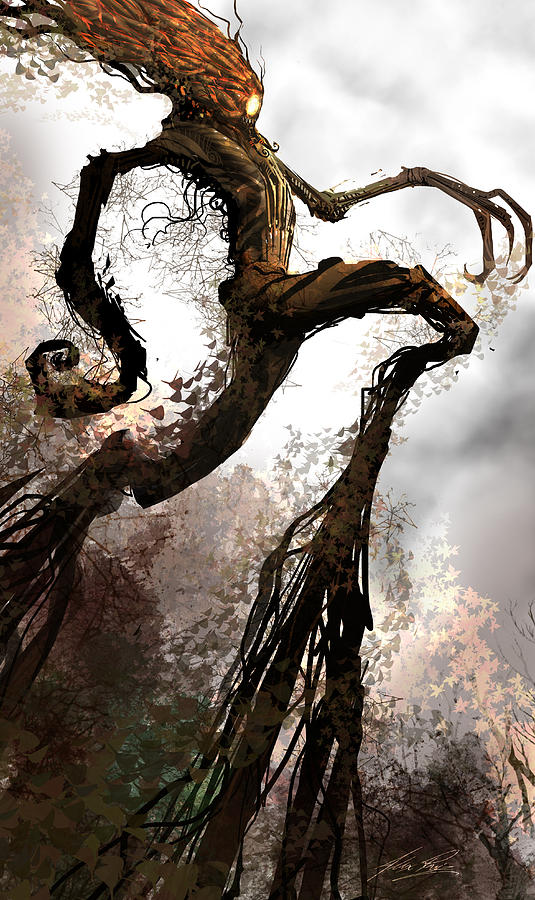 Ent Digital Art - Treeman by Alex Ruiz