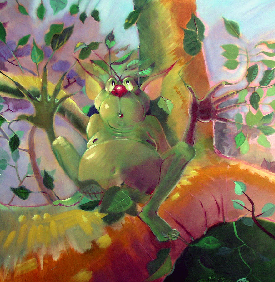 Fantasy Painting - Treeman by Patrick McClintock