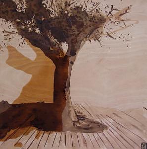 Trees Painting - Trees   Oliveira by Francisco Urbano