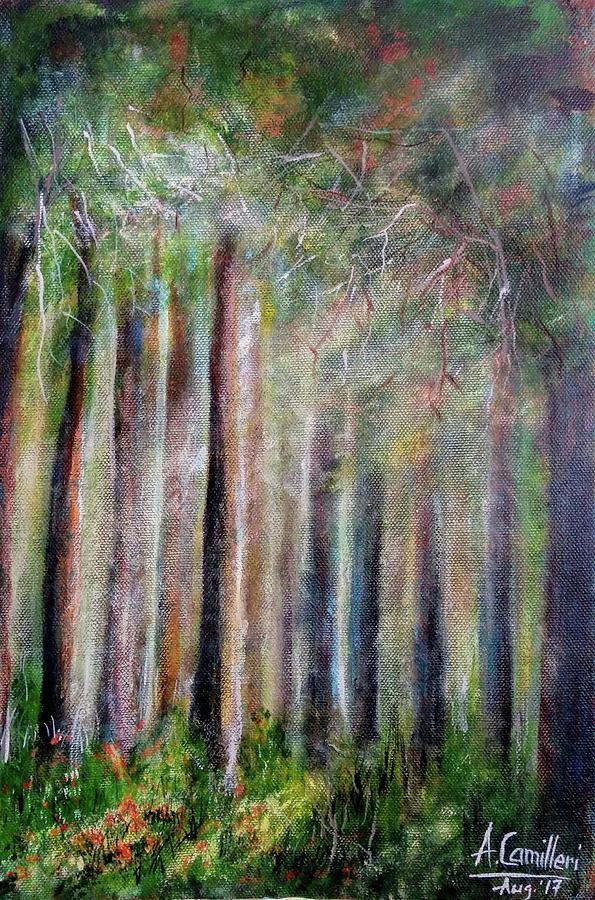 Trees 2 Painting by Anthony Camilleri