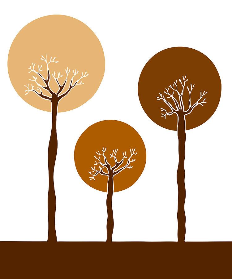 Frank Tschakert Painting - Trees by Frank Tschakert