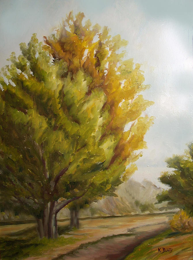 Landscape Painting - Trees In Boulder by Karla Beatty