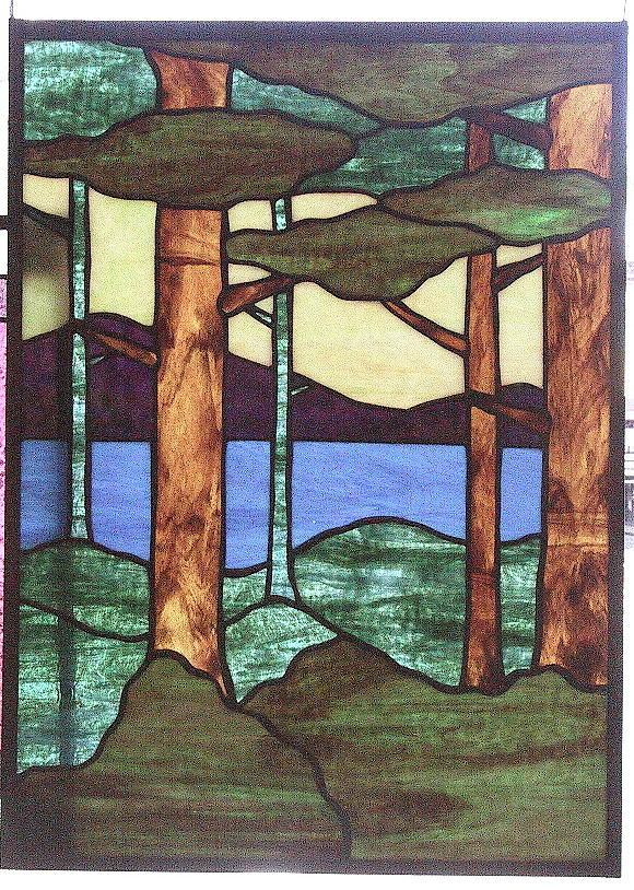 Trees Glass Art - Trees by Jane Croteau