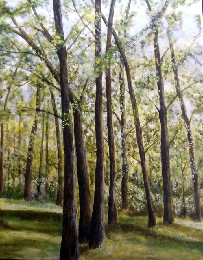 Landscape Painting - Trees by Lorna Skeie