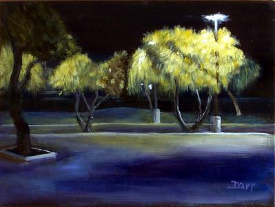 Plein Air Painting - Trees Of Knowledge by Darr Sandberg