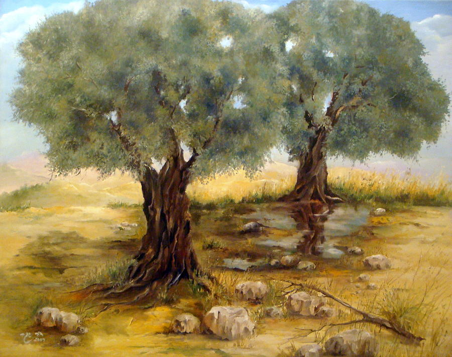 Nature Painting - Trees Of Olive In The Fall by Dov Segev