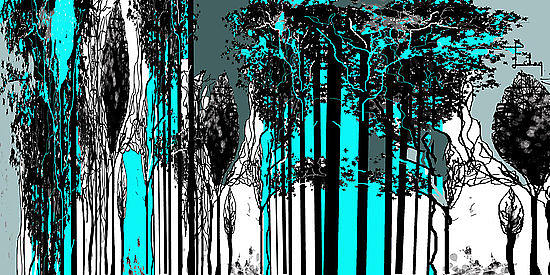 Trees Digital Art - Trees by Tulay Cakir