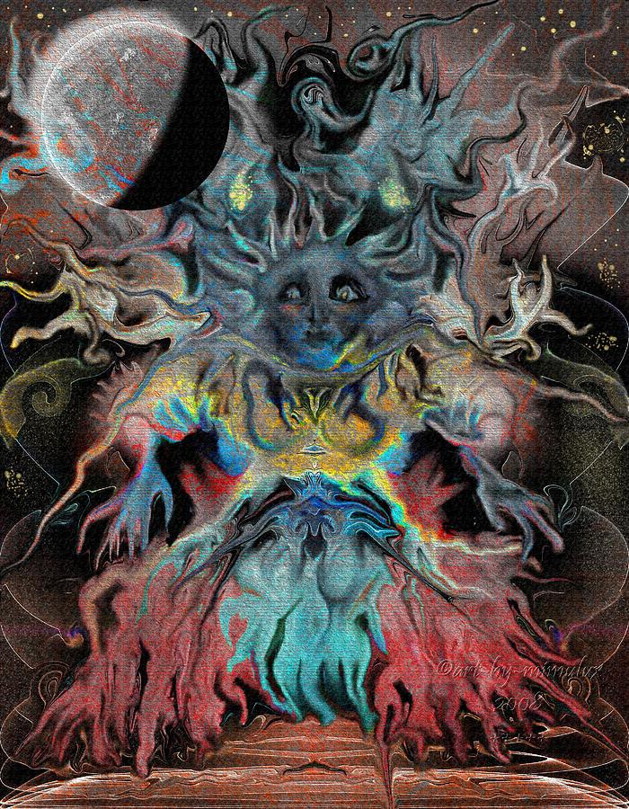 Tree Digital Art - Treewoman Awakens by Mimulux patricia no No