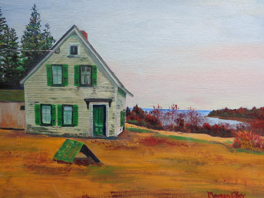Acadia Painting - Trehaus Acadia Maine by Maureen Obey