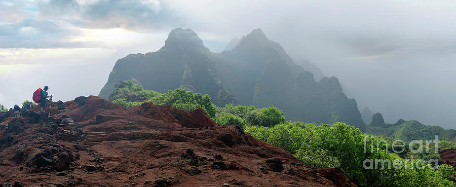 Kauai Photograph - Trek Thru Kalalau by RJ Bridges
