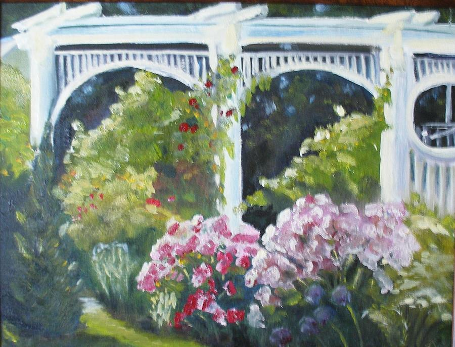Oil Painting Painting - Trellis by Wendie Thompson
