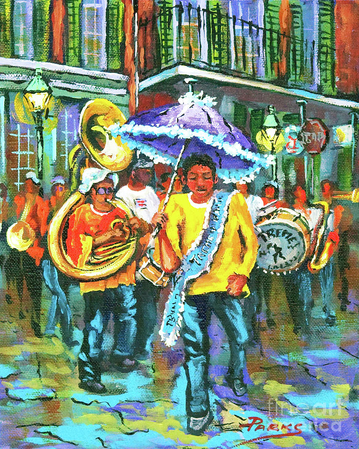 Treme Painting - Treme Brass Band by Dianne Parks