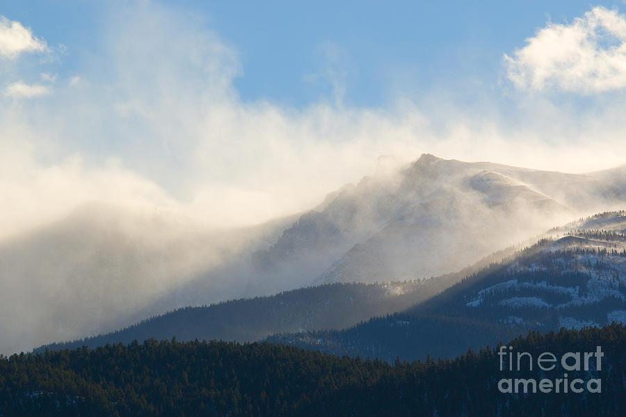 Tremendous Wind Storm On Pikes Peak Colorado Photograph