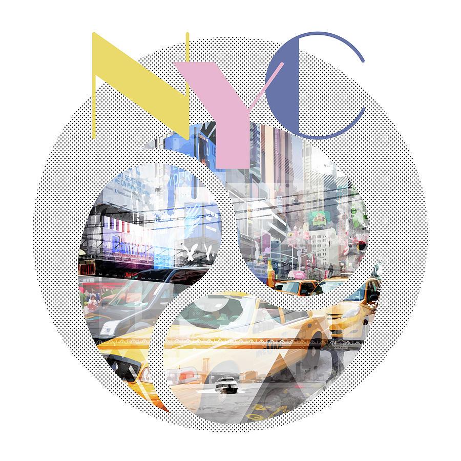 New York City Photograph - Trendy Design New York City Geometric Mix No 1 by Melanie Viola