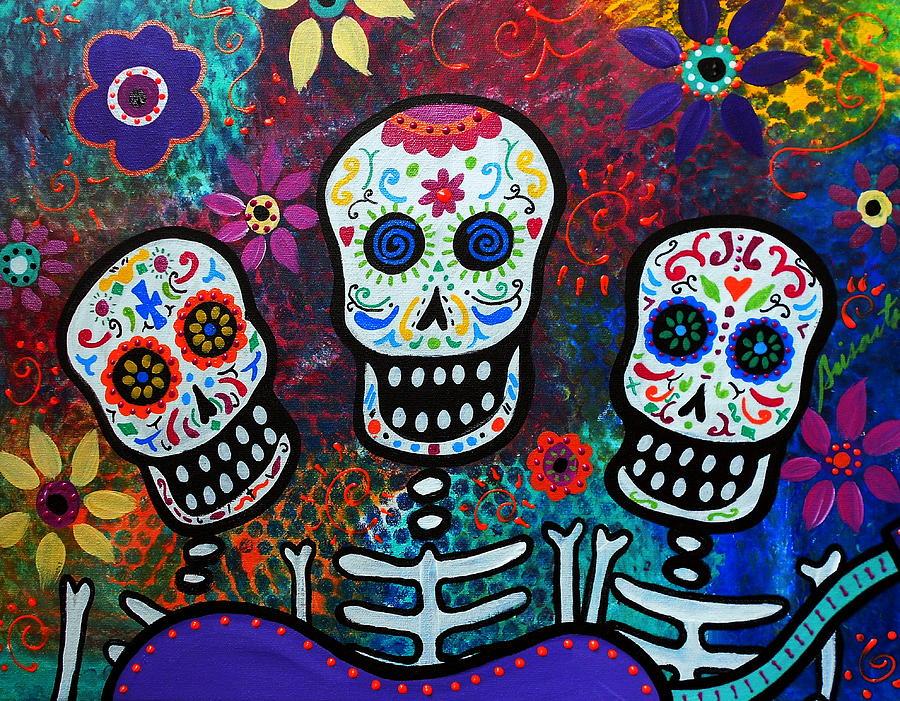 Tres Painting - Tres Amigos by Pristine Cartera Turkus