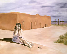 Southwest Landscape Painting - Tres Cruces by Sandi Snead