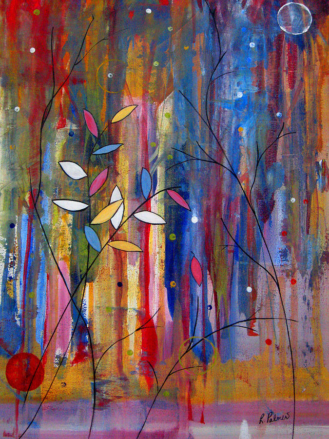 Abstract Painting - Tres Jolie by Ruth Palmer