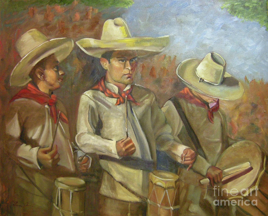 Mexico Painting - Tres Tambores by Lilibeth Andre