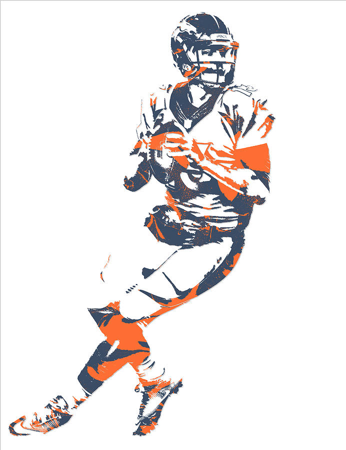 Trevor Siemian Denver Broncos Pixel Art Mixed Media by Joe Hamilton