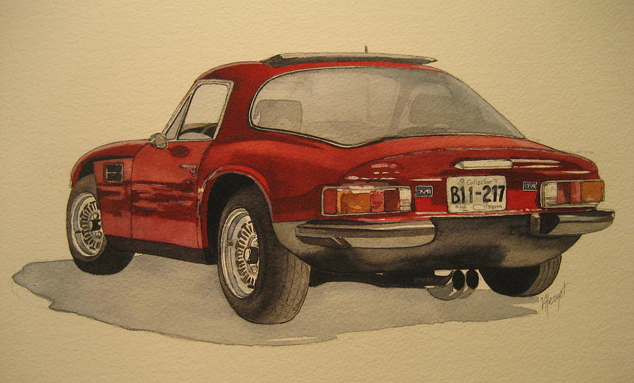 Car Painting - Trevors Tvr by Victoria Heryet