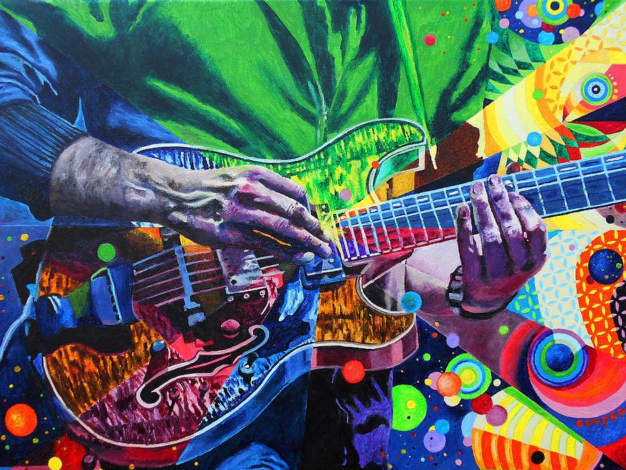 Phish Posters Painting - Trey Anastasio 4 by Kevin J Cooper Artwork