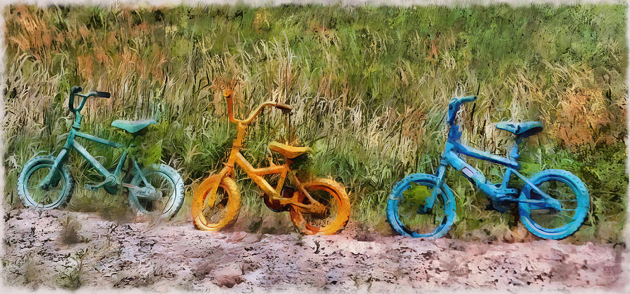 Recycled Photograph - Tri Bike by Leslie Montgomery