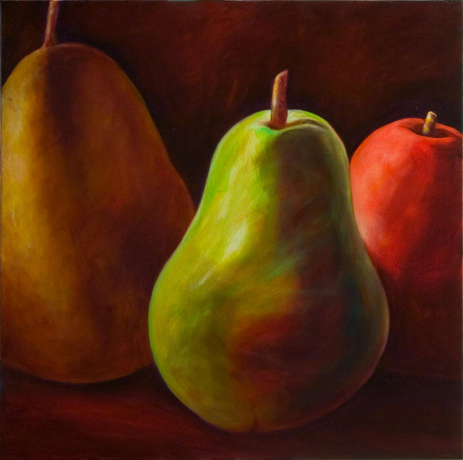 Fruit Painting - Tri Pear by Shannon Grissom