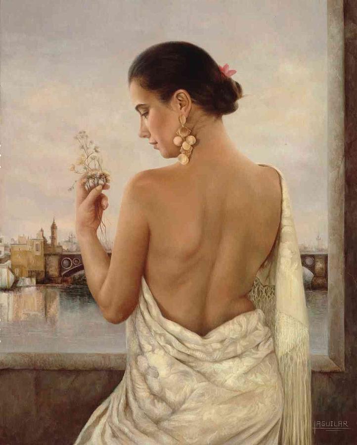 Triana Painting - Triana  1992 by Maria Jose  Aguilar Gutierrez