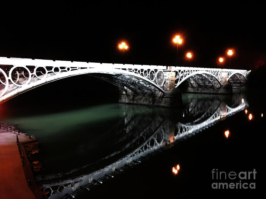 Triana Bridge Photograph by HELGE Art Gallery