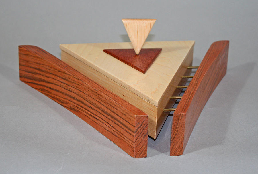 Maple Sculpture - Triangle Suspended Box by Alan Carter