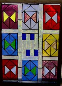 Stained Glass Art - Triangles by Arnold Quentin
