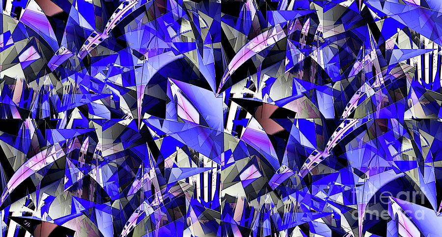 Abstract Digital Art - Triangulate by Ron Bissett