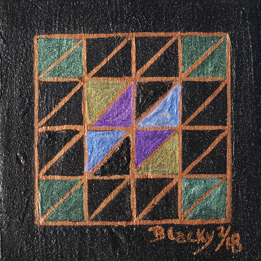 Triangulation Painting by Donna Blackhall