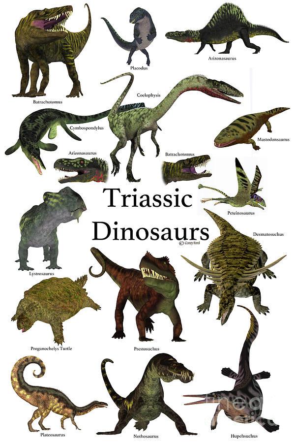 Triassic Animals List Triassic Dinosaurs Dig...