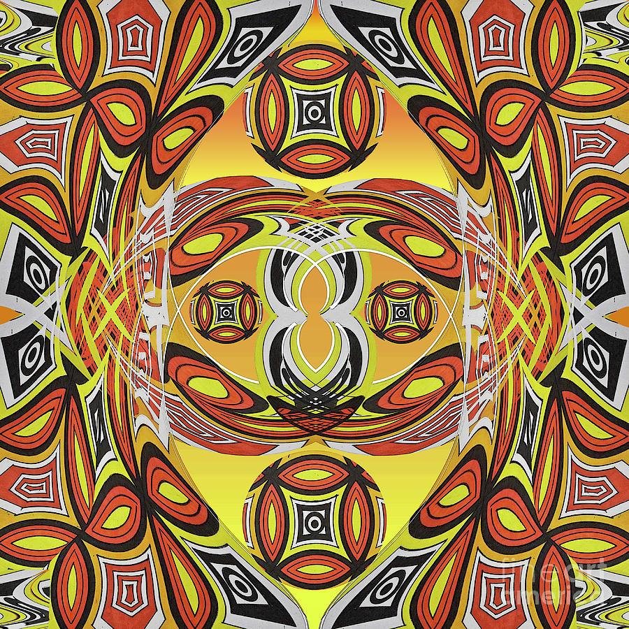 Tribal Art 5 Mixed Media by Jesus Nicolas Castanon
